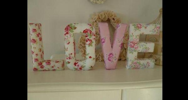 artesanato em tecido letras