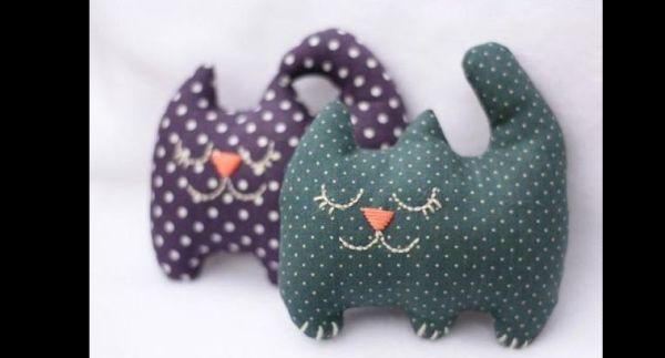 artesanato em tecido gatinho