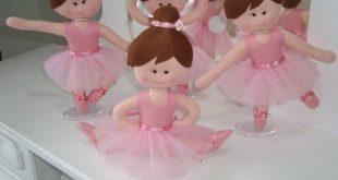 Bailarina em Feltro: Moldes para Imprimir