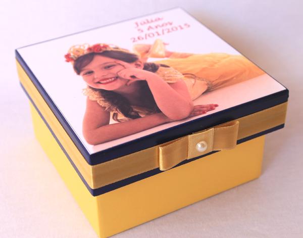 caixa decorada de mdf menina