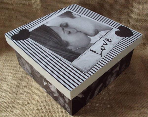 caixa decorada de mdf namorados