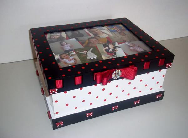 caixa decorada de mdf minnie