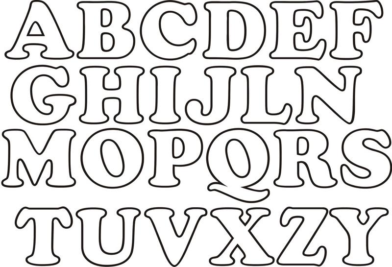 molde de alfabeto simples