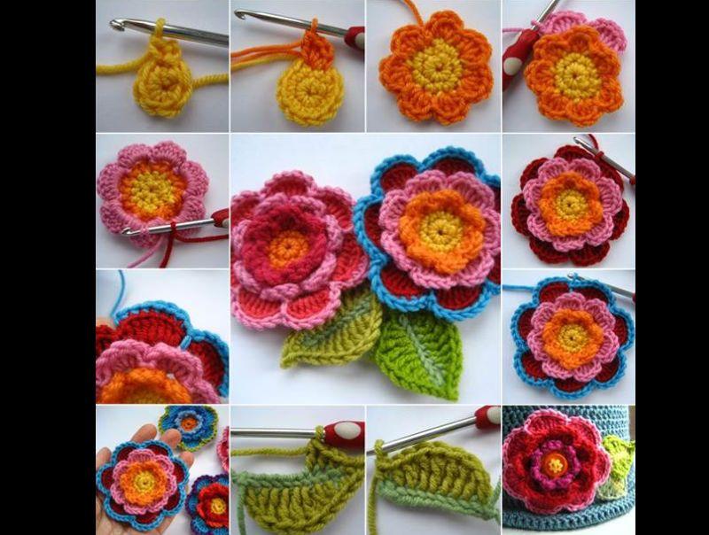 flor de crochê como fazer passo a passo
