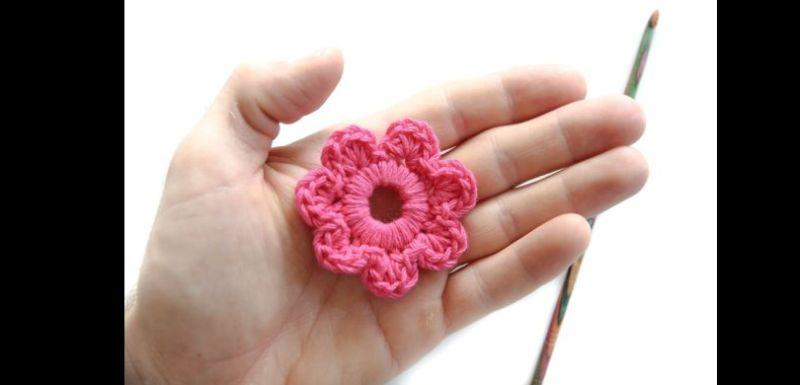 como fazer flor de crochê passo a passo