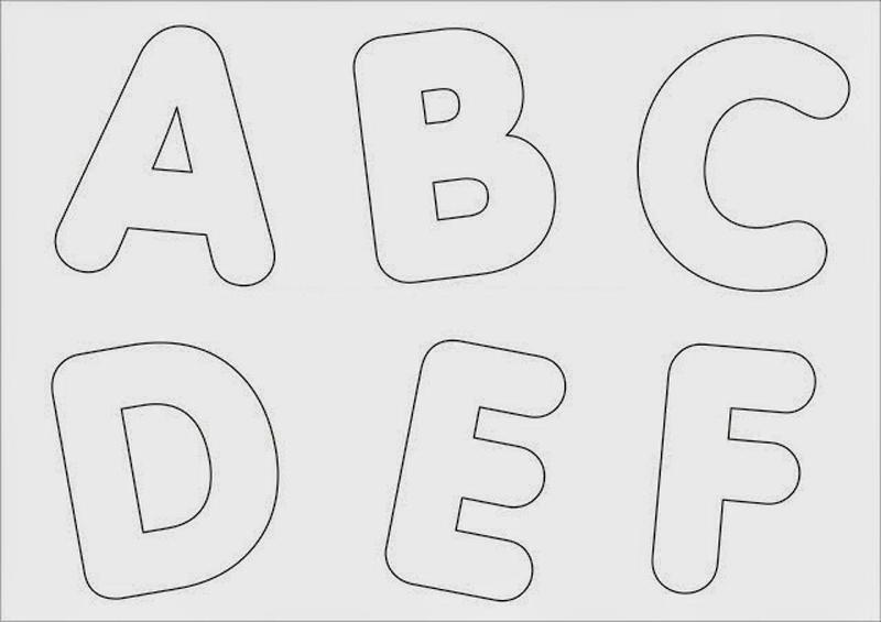 molde de alfabeto grande