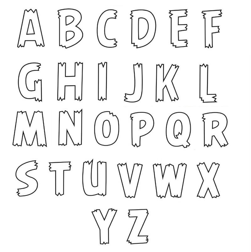 molde de alfabeto barato