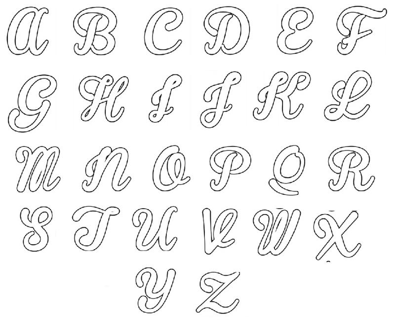 molde de alfabeto maiusculo
