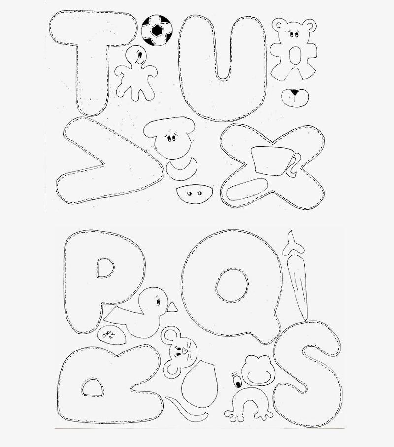 molde de alfabeto com bichinhos