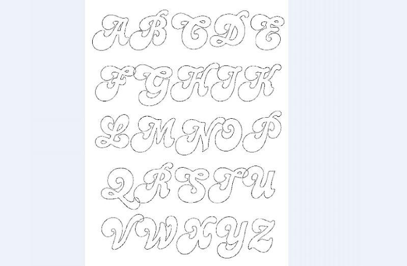 molde de alfabeto bonito
