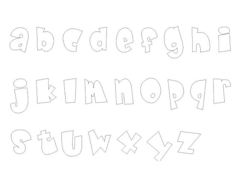 molde de alfabeto gratis