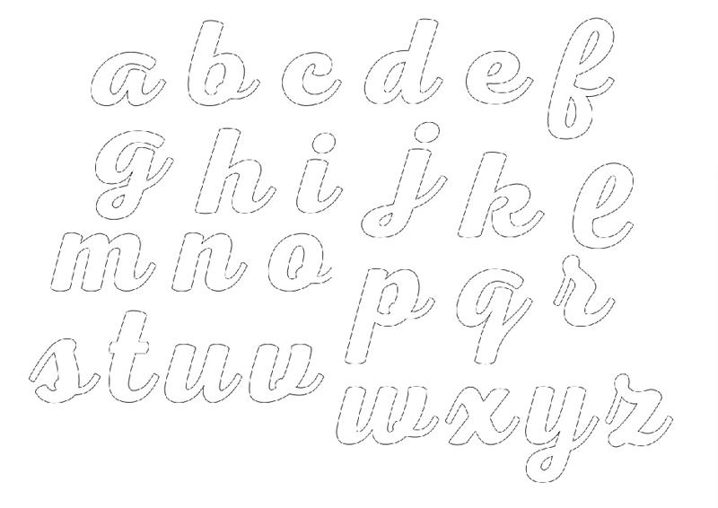 molde de alfabeto minusculo
