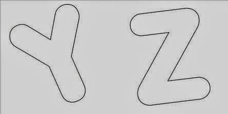molde de alfabeto para artesanato
