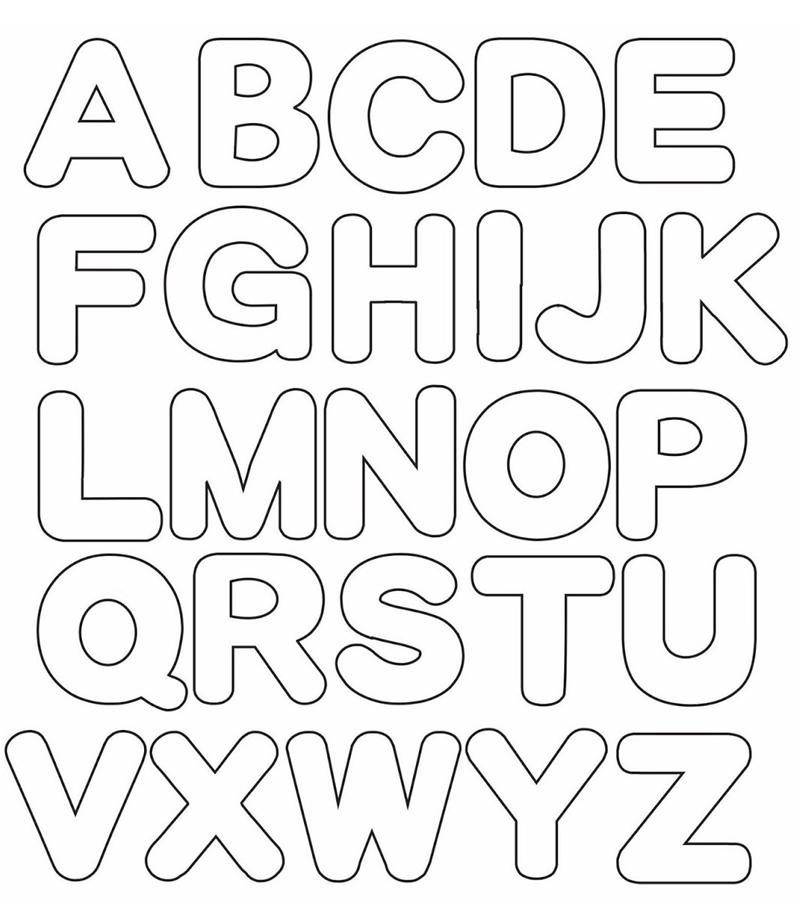 molde de alfabeto comum