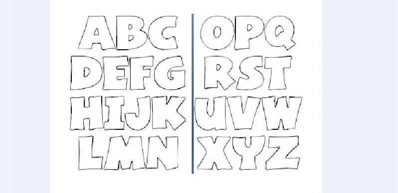 molde de alfabeto facil