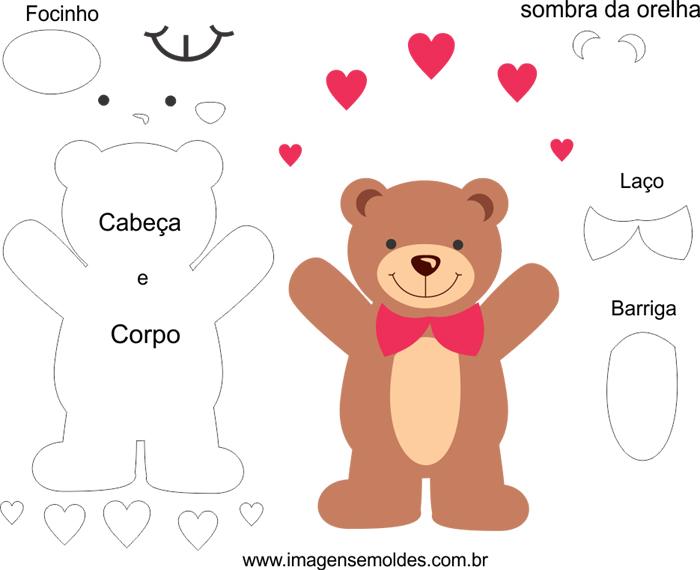 Molde De Urso Em Feltro Para Imprimir