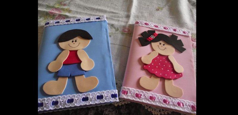 capa caderno eva menino menina