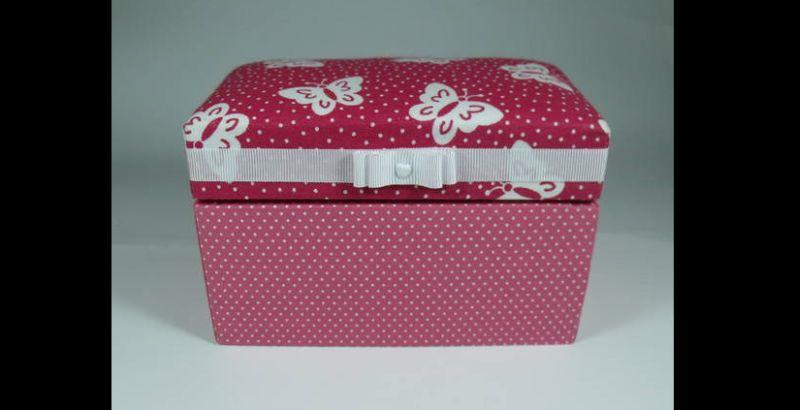 caixa decorada bau