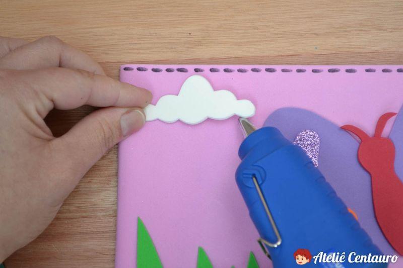 capa caderno eva tutorial