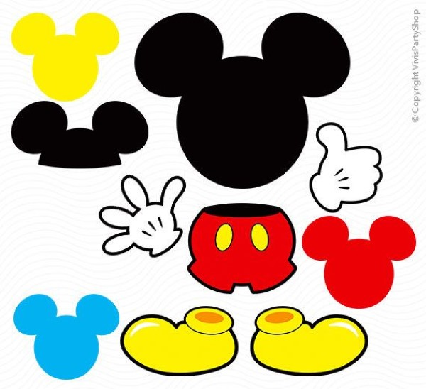 moldes do mickey mouse para imprimir