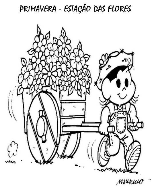 desenho da primavera colorido