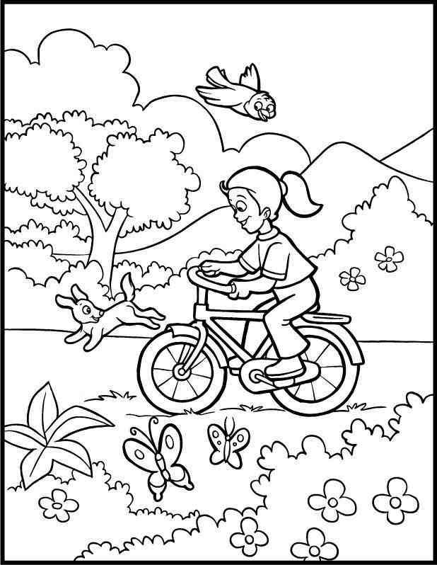 desenho da primavera para colorir