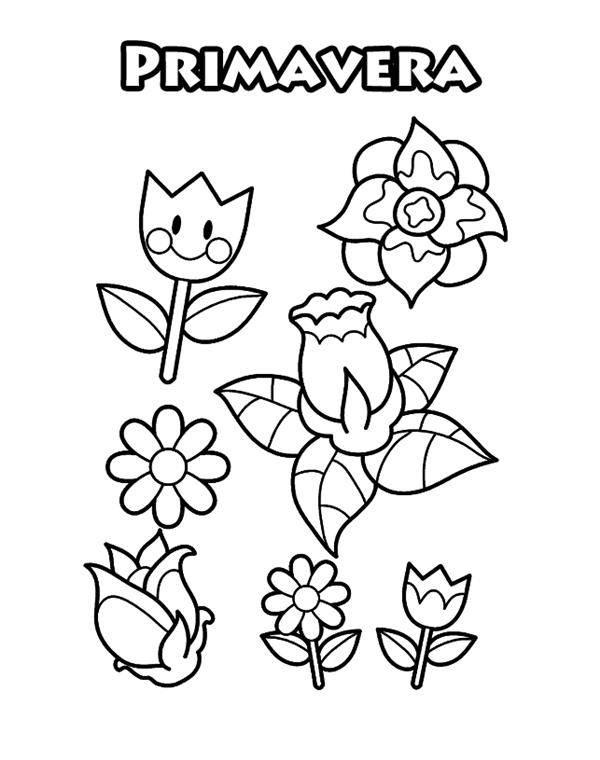 desenho de primavera para imprimir