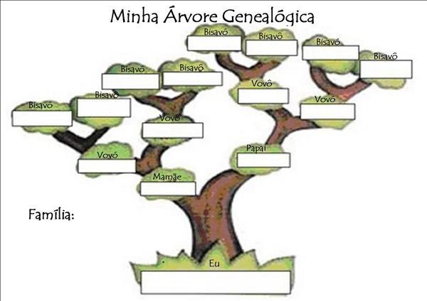como montar uma árvore genealógica
