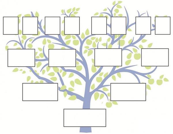 árvore genealógica para preencher