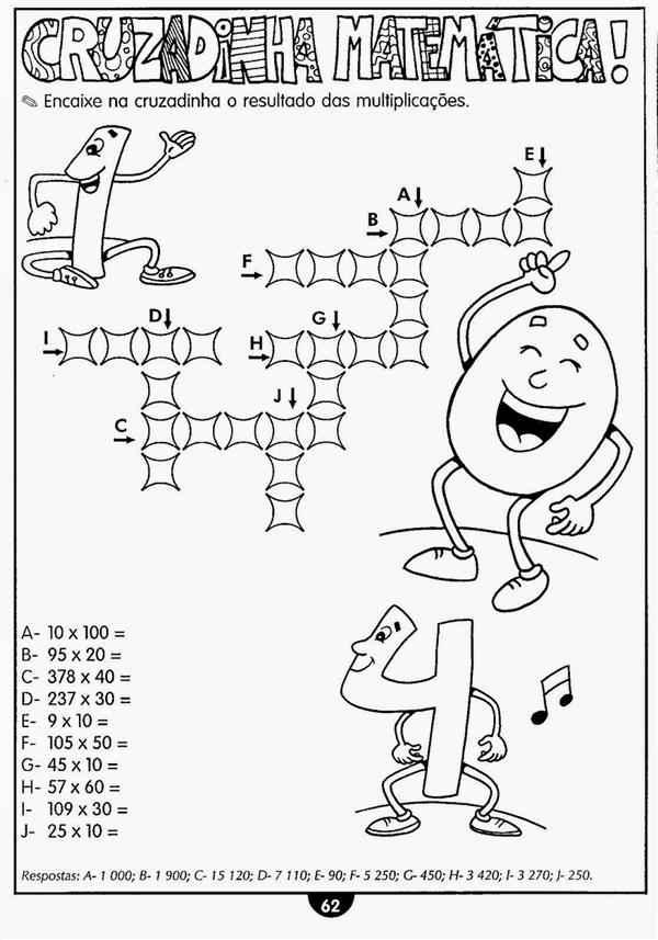 atividades de matemática 4 ano multiplicação