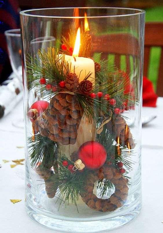 enfeite de mesa natalino