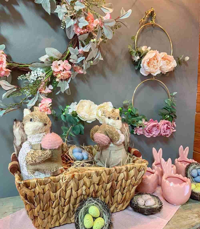 decoração de coelho de pascoa