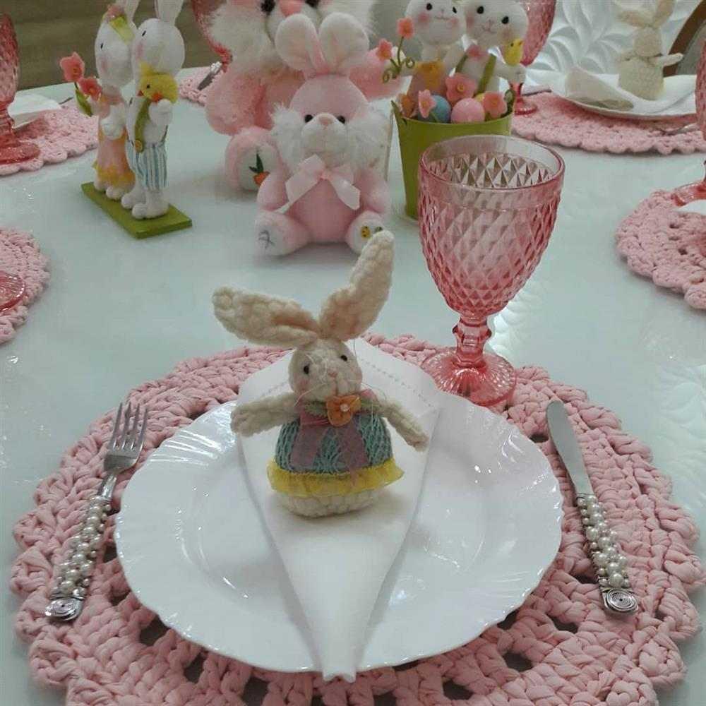 decoração de pascoa para mesa