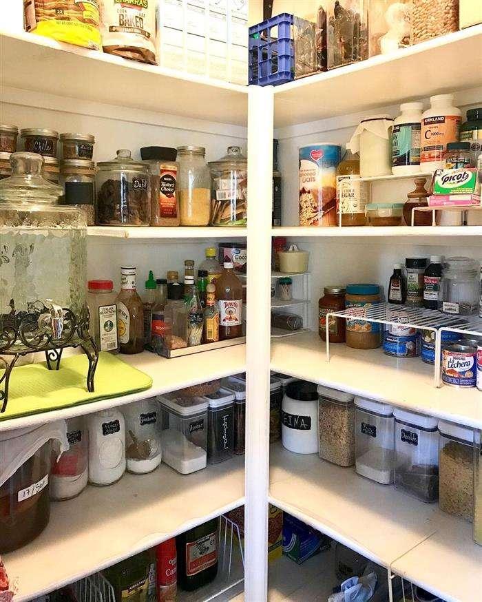 como organizar armário de cozinha mantimentos