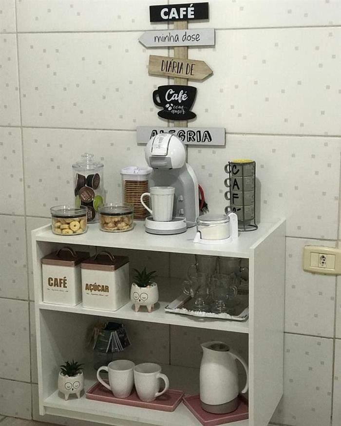 cantinho do café armário