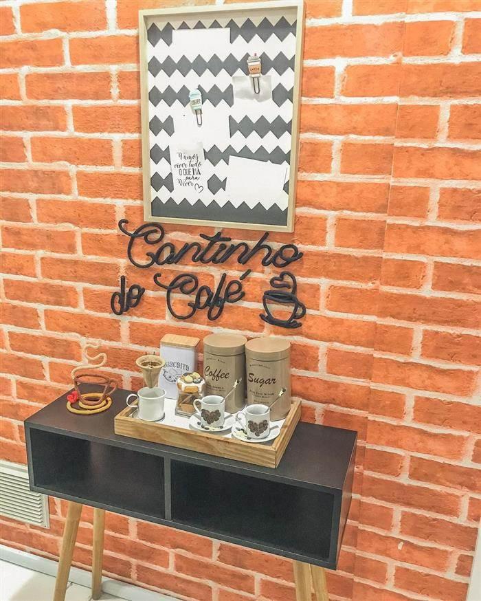 cantinho do café rústico