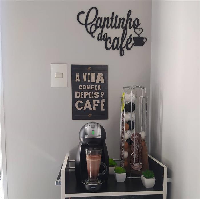 placa de cantinho do cafe