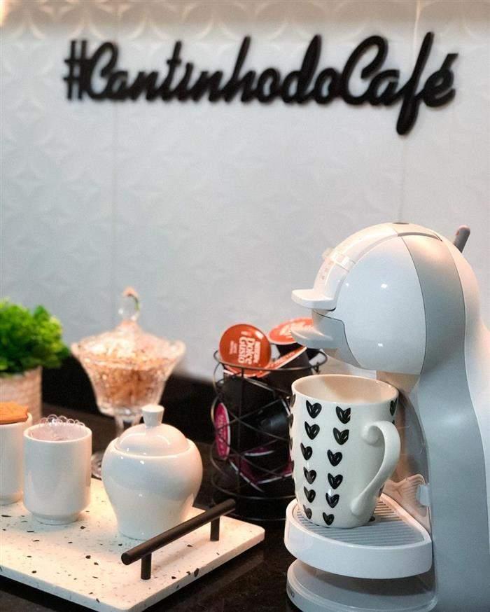 quadro de cantinho do café