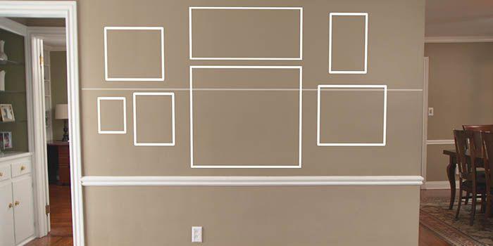 como colocar quadros na parede do corredor